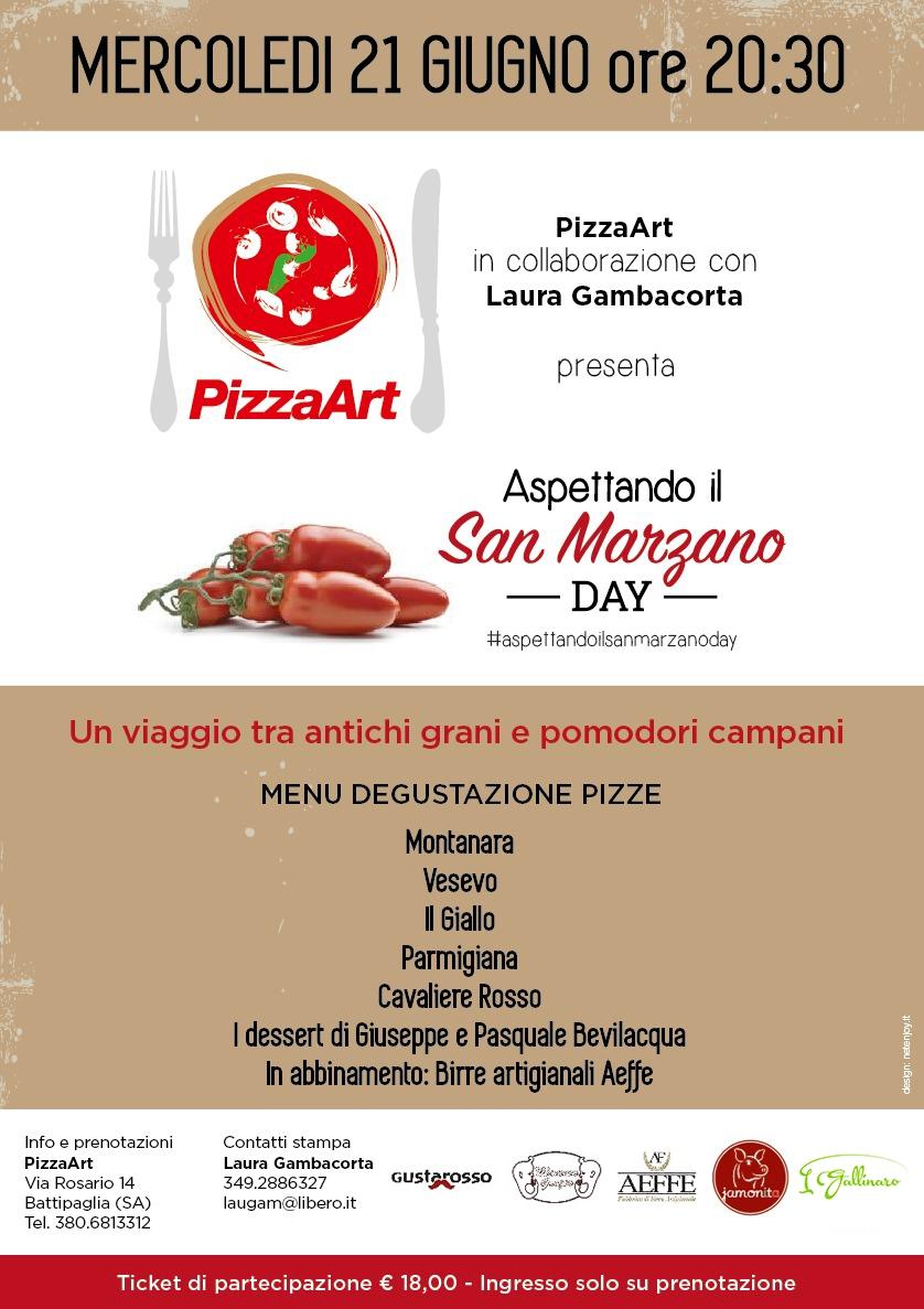 """Il 21 giugno da PizzaArt di Battipaglia (Sa) """"Aspettando il San Marzano Day"""""""