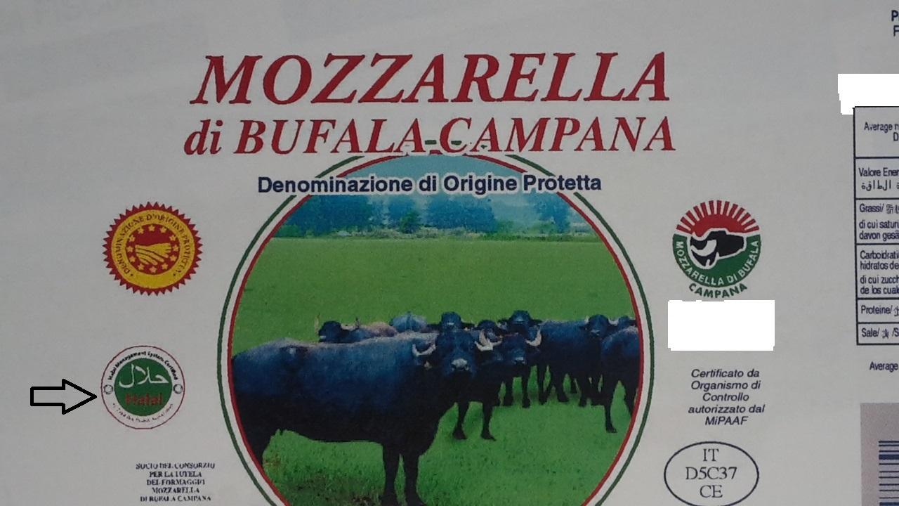 halal mozzarella di bufala campana dop